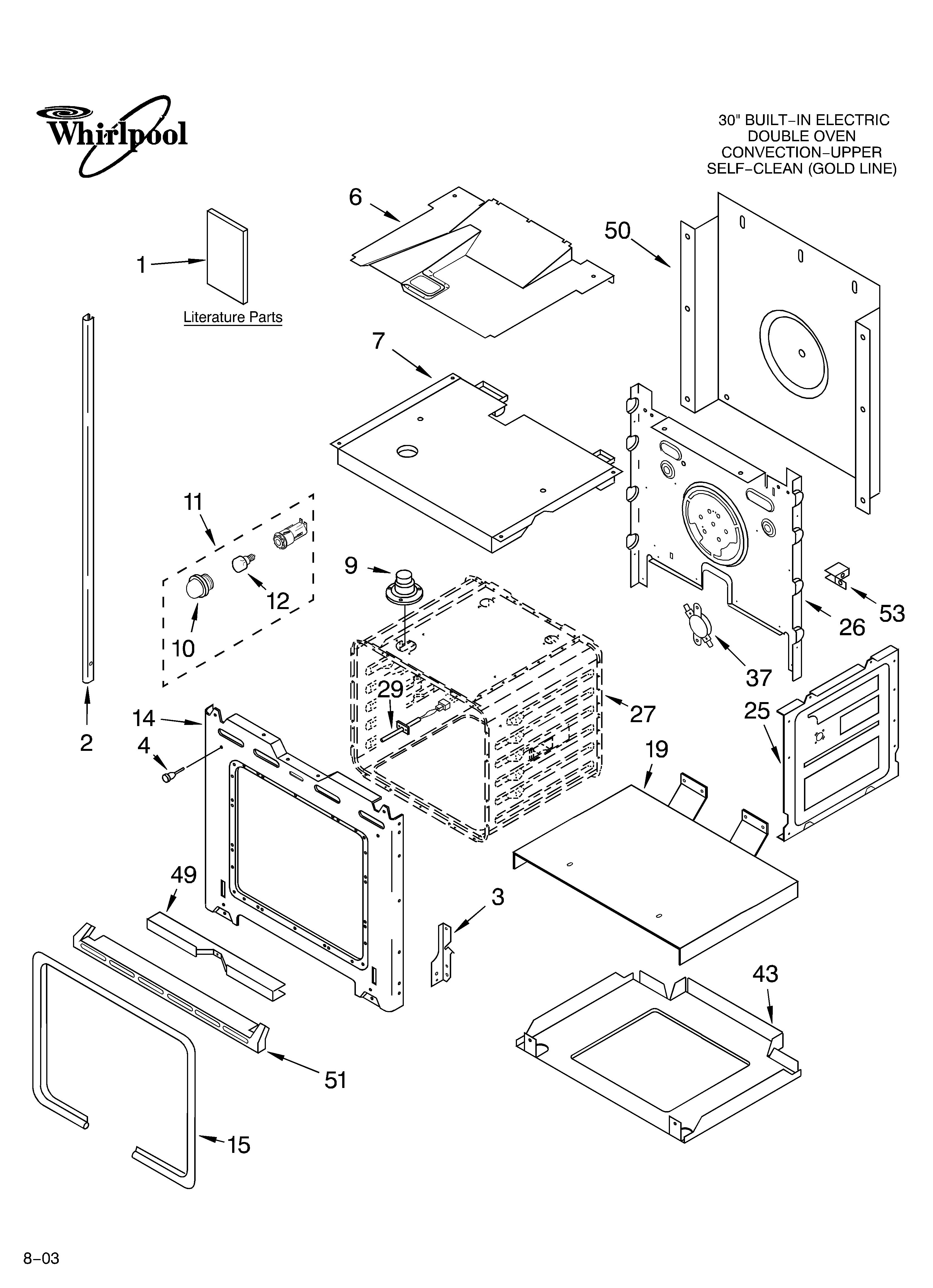 stove oven diagram