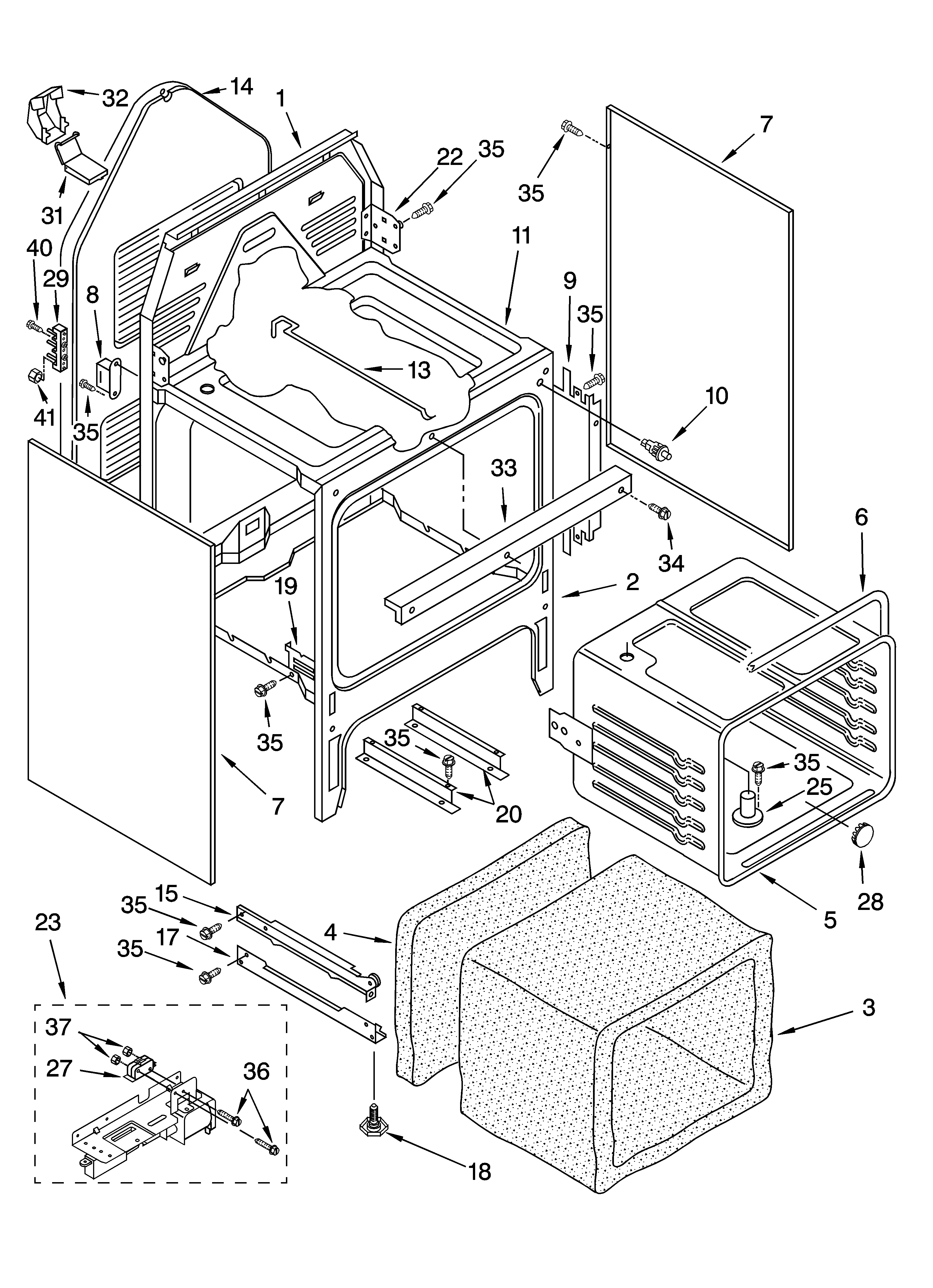 whirlpool stove wire diagram