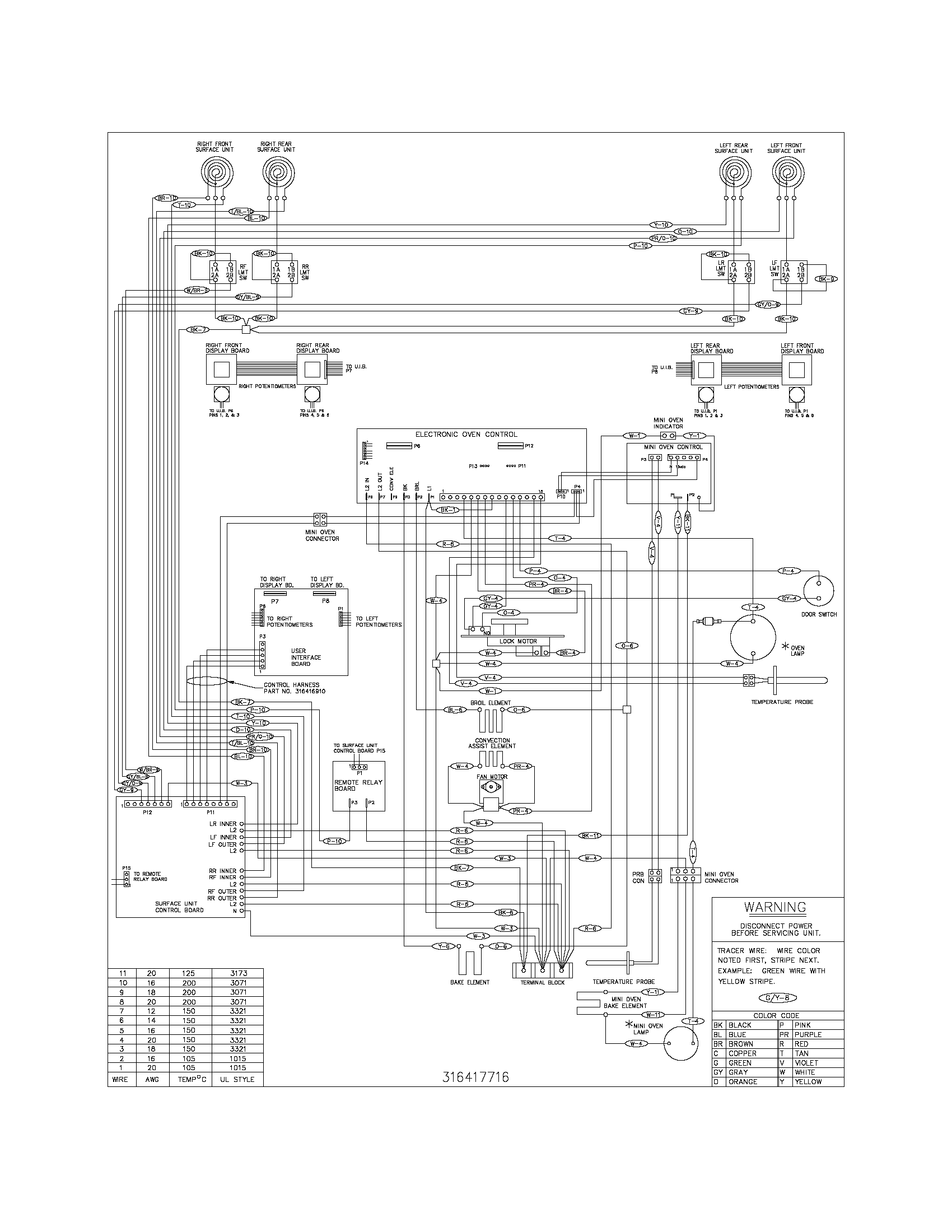 wiring diagram for a frigidaire stove