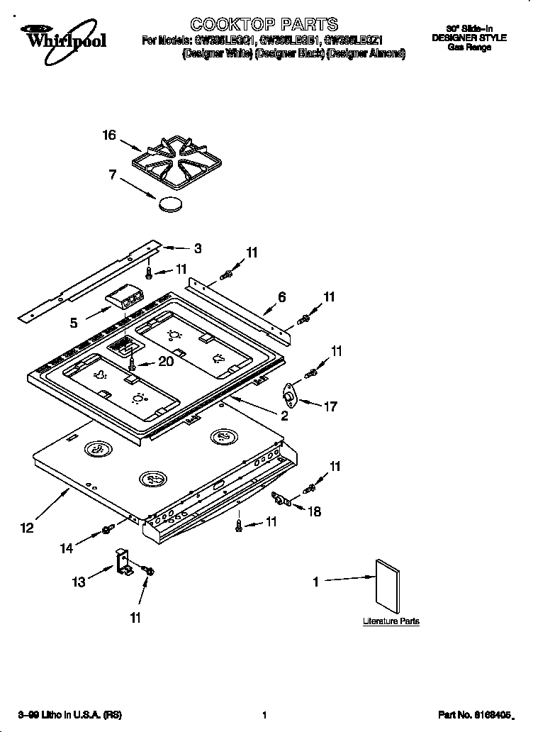 gas cooktop schematic