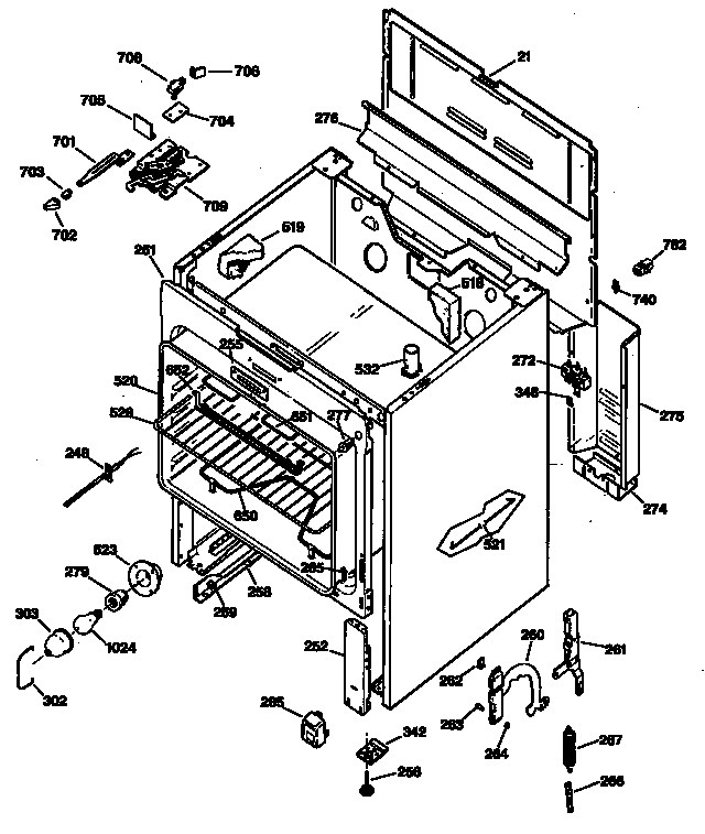 ge range schematic