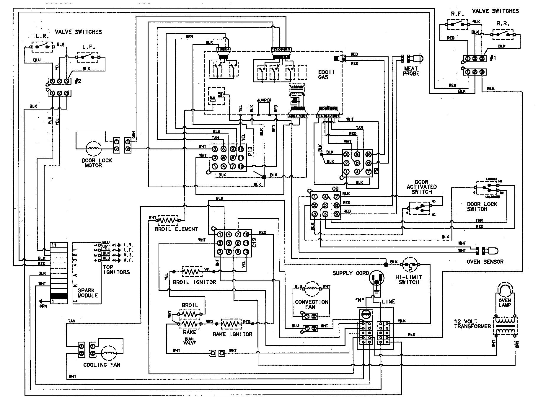 gas range wiring diagram