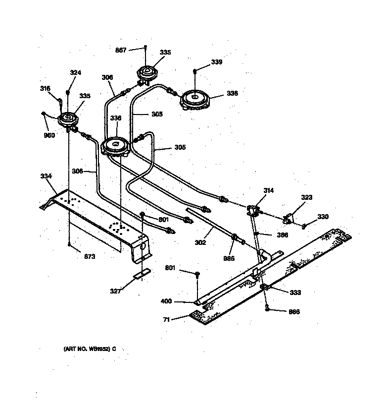 wiring diagram for electric stove top burner