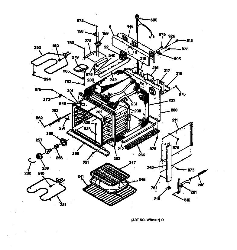 ge stove wiring diagram broiler unit