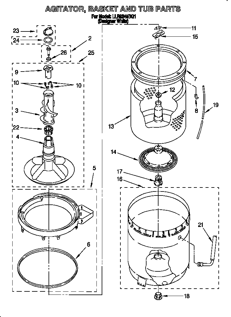 whirlpool washer schematic