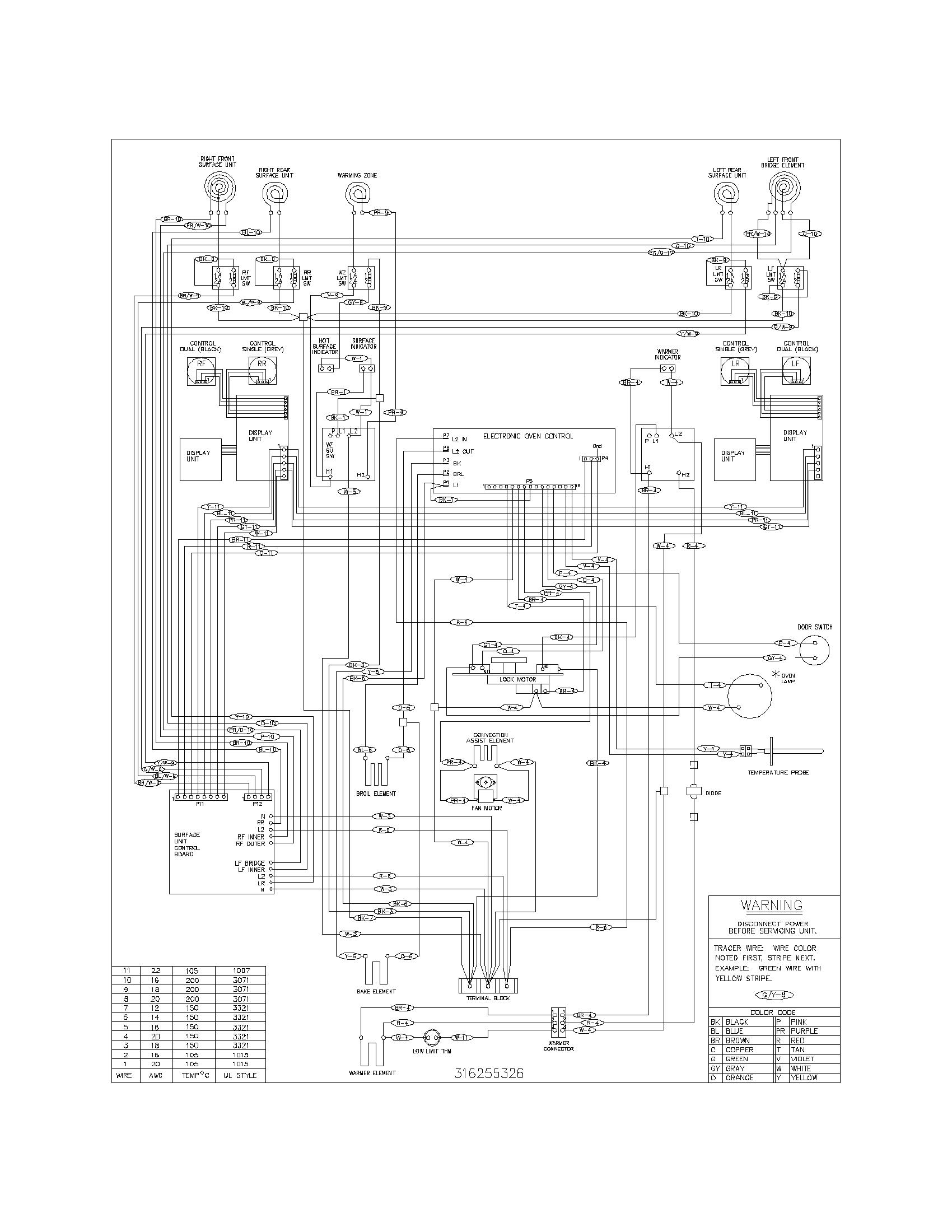 frigidaire oven wiring diagram
