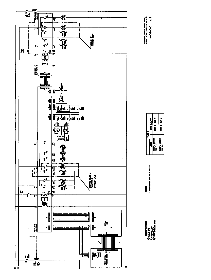 wiring diagram for an oven
