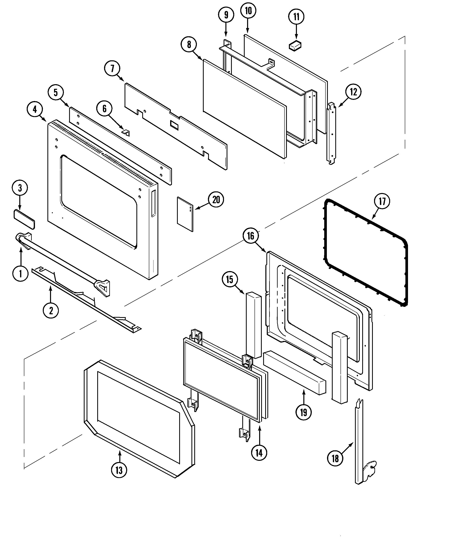 oven door schematic for jenn air