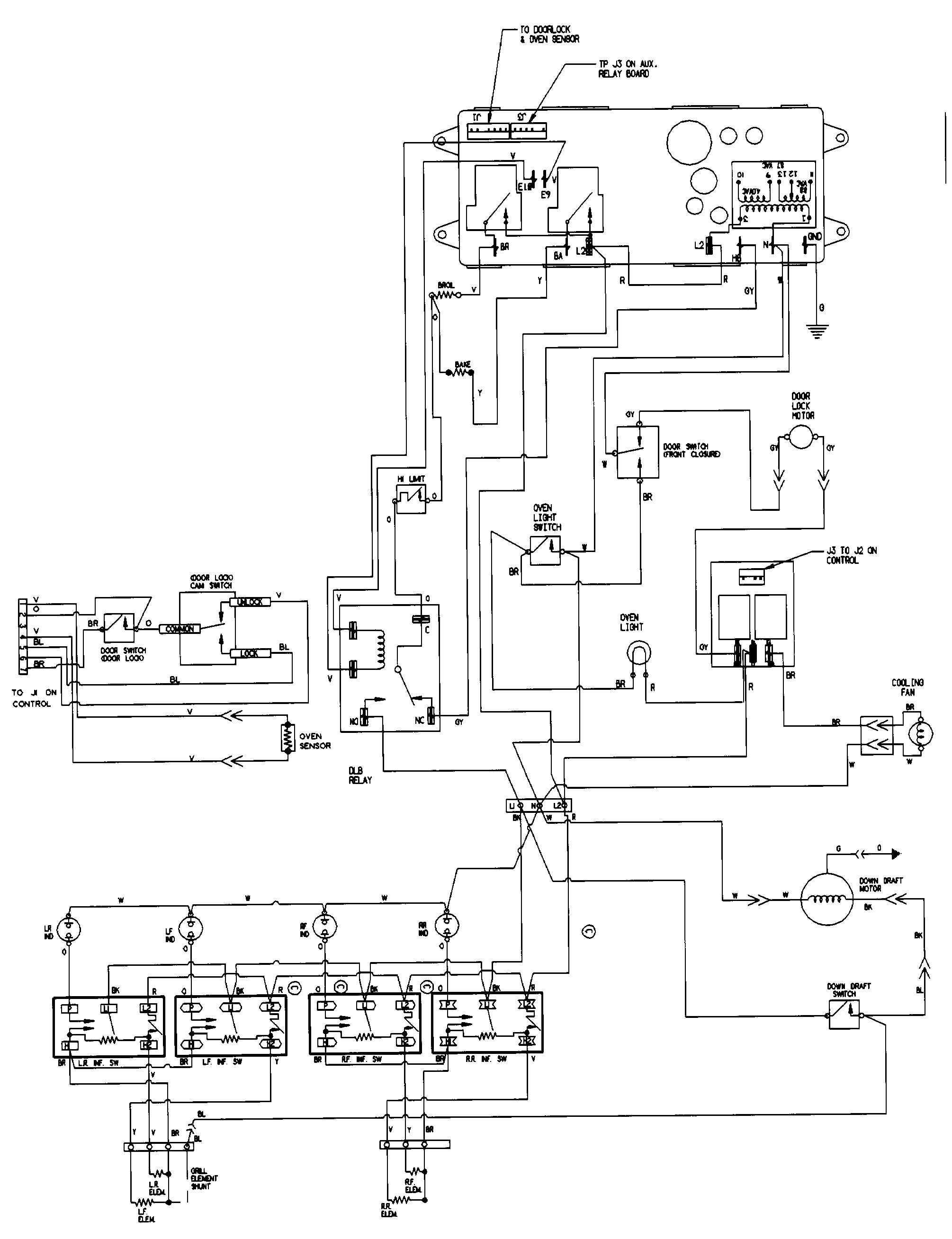 3 wire electric oven wiring diagrams