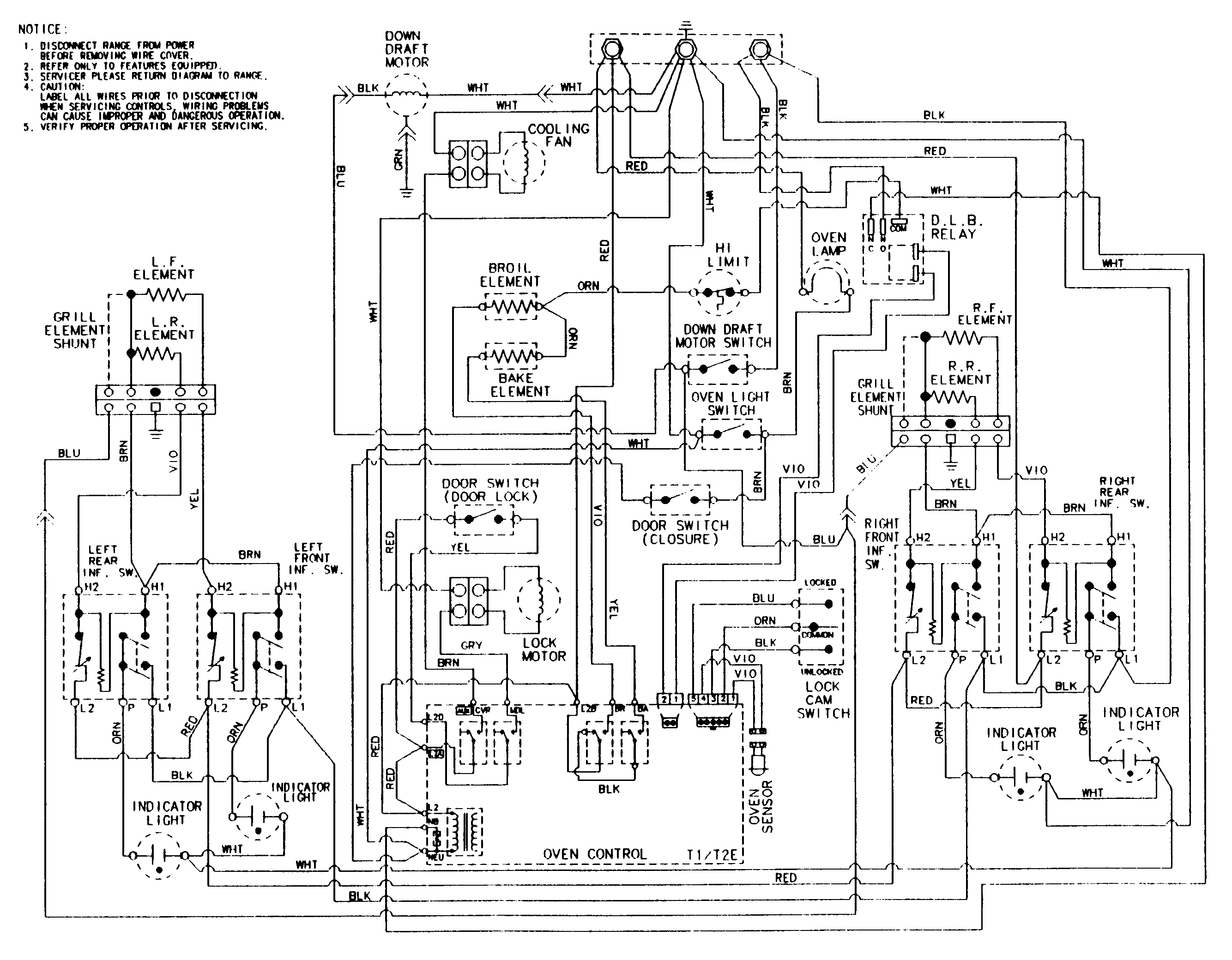 oven schematic wiring diagram
