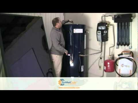 Hot Water Solar Electric Hot Water Tank Appliance Video