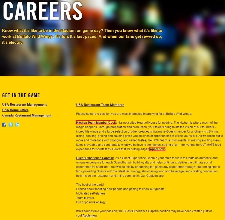 How to Apply for Buffalo Wild Wings Jobs Online at buffalowildwings