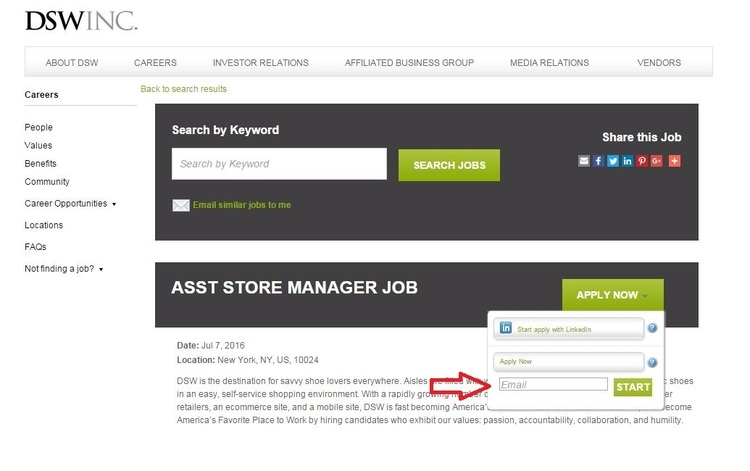 How to Apply for DSW Jobs Online at dswinc/careers