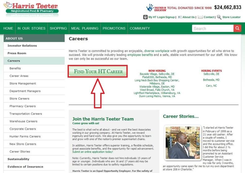 Harris Teeter Job Application Grocery Store Applications How To Apply For Harris Teeter Jobs Online At Harristeeter
