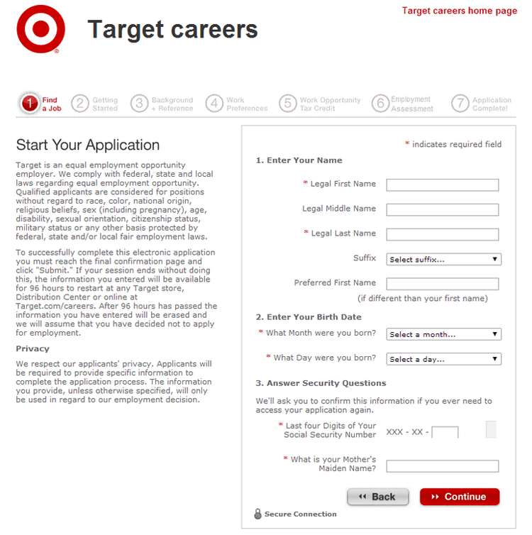 Target Application Target Online Job Application Form How To Apply For Target Jobs Online At Targetcareers