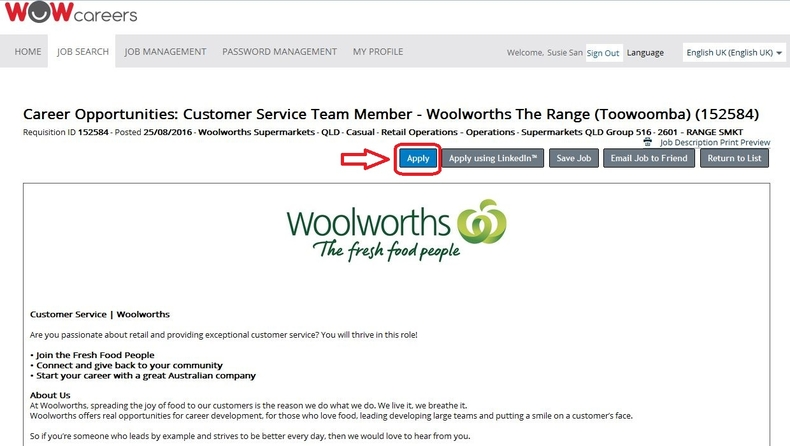 How to Apply for Woolworths Jobs Online at wowcareersau - Application For Customer Service Job