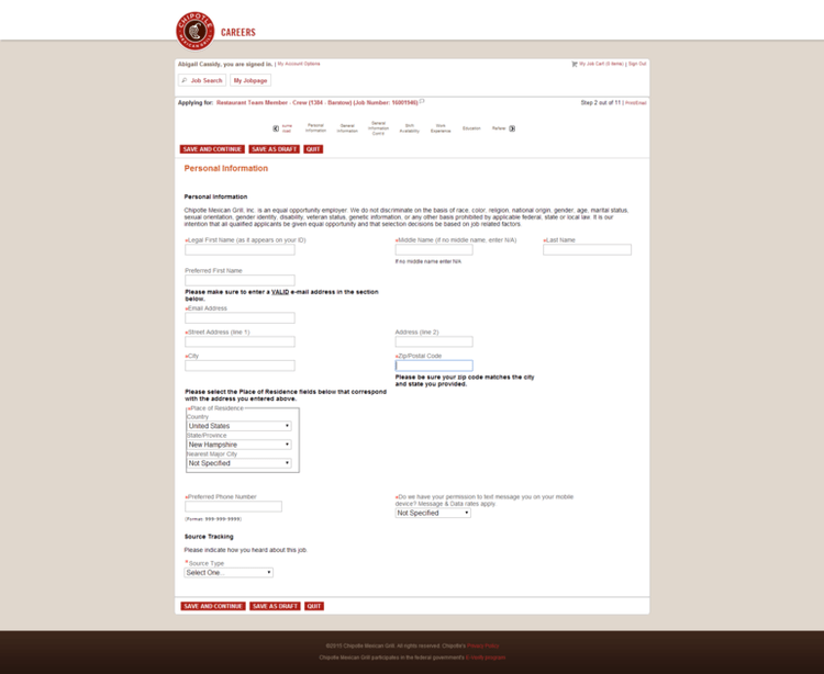 How To Attach A Resume To An Online Job Application How To Apply For Chipotle Jobs Online At Jobschipotle