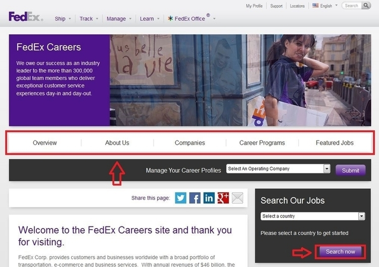 How to Apply for FedEx Jobs Online at fedex/careers