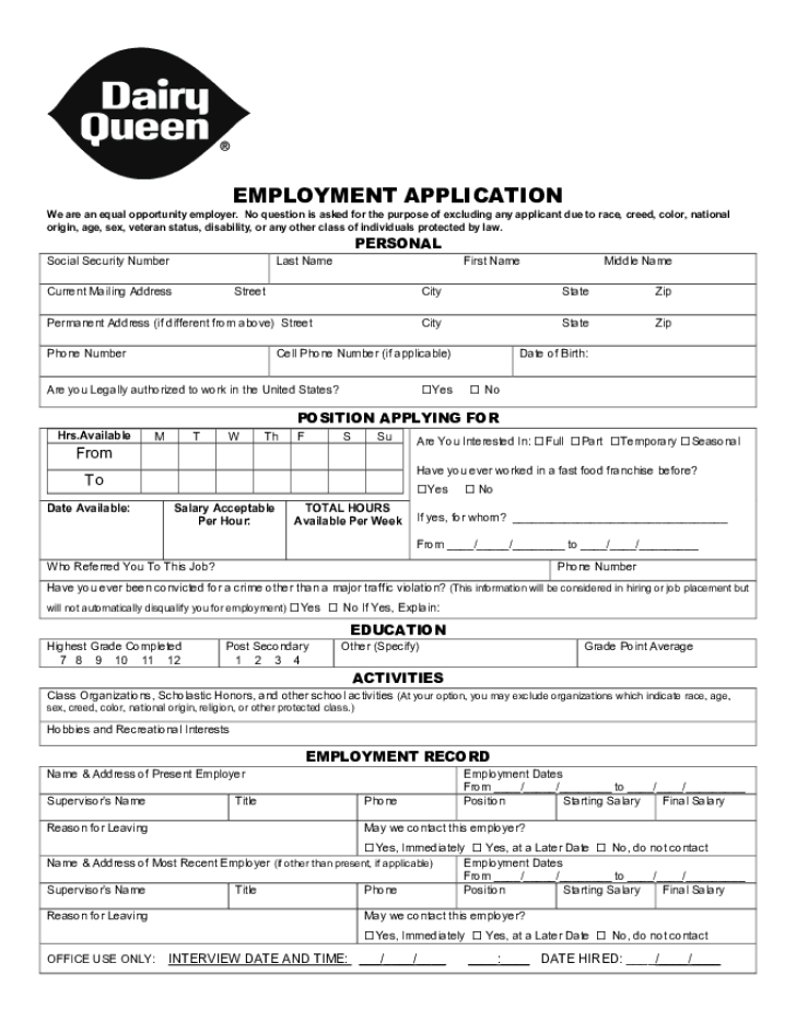employment application forms 2015 employment application. jack in ...