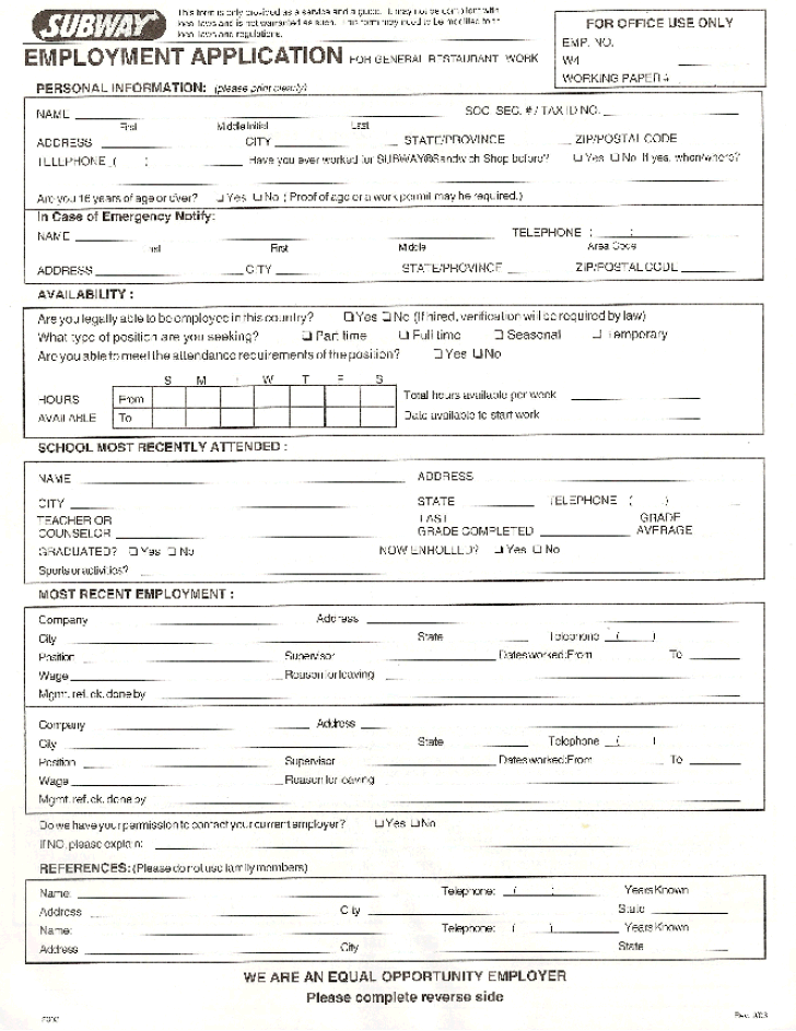 Jack In The Box Job Application Form Pdf   Best Resumes Curiculum ...