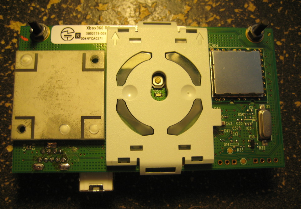 Connecting a salvaged Xbox 360 RF module to a desktop computer