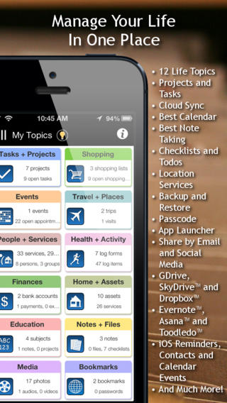 LifeTopix All-in-One Personal Organizer app review a comprehensive