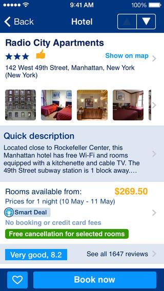 Booking app review hotel deals - appPicker