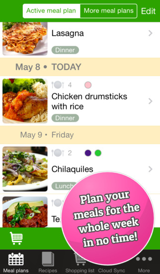 Avocado Meal Planner app review a kitchen planning tool - appPicker