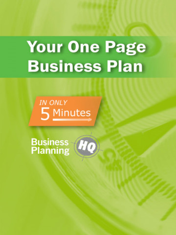 5Min Business Plan app review create a simple one-page business