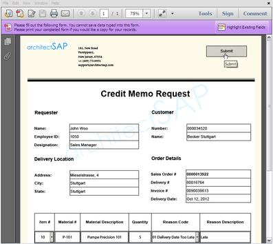 Role of SAP Adobe Forms into Credit Note Management Process