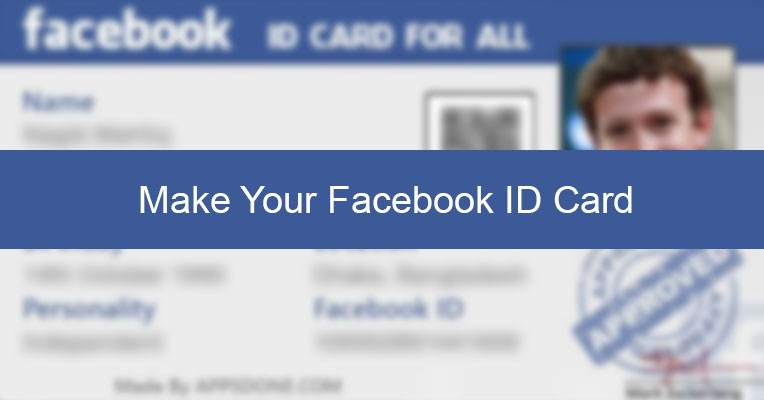 Make Your Facebook ID Card AppsDone