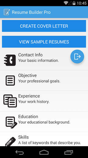 Resume Builder Pro for Android - Free Download