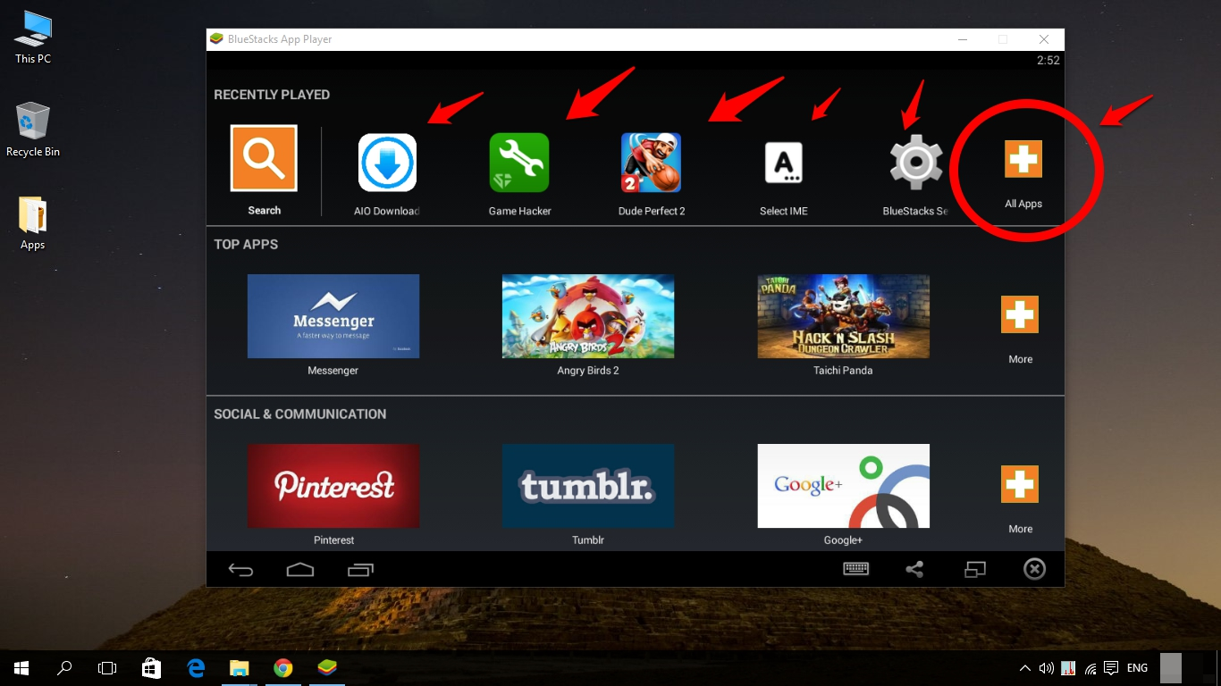 how to download any android app for pc running windows 10