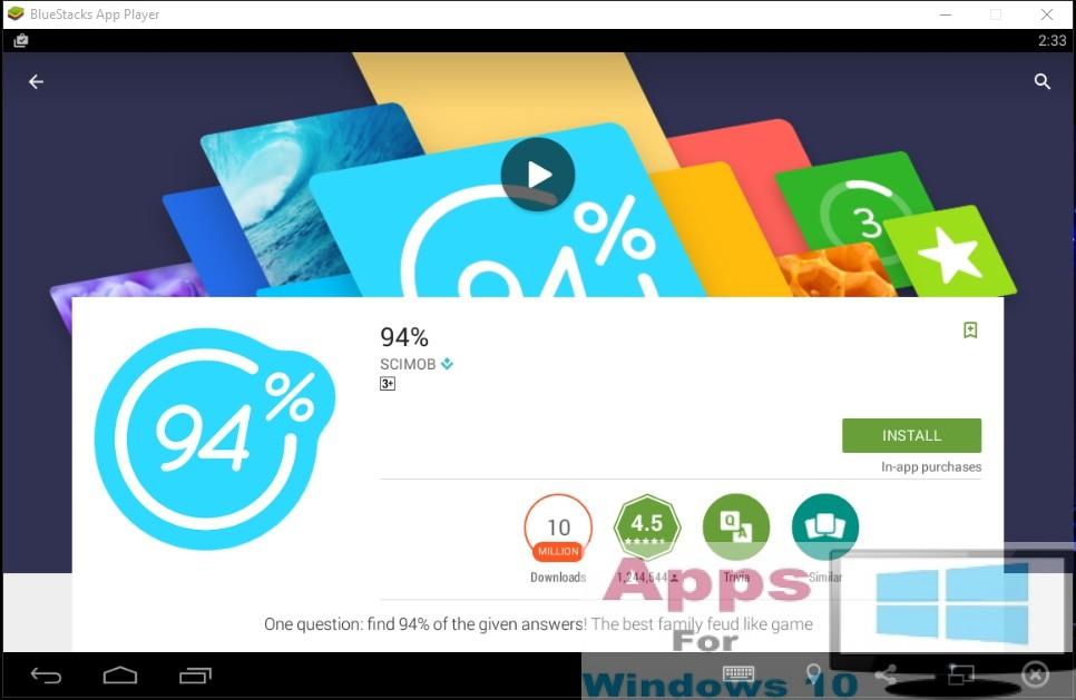 how to find gigantic in windows 10 app