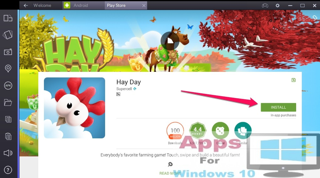 Hay day app store up date