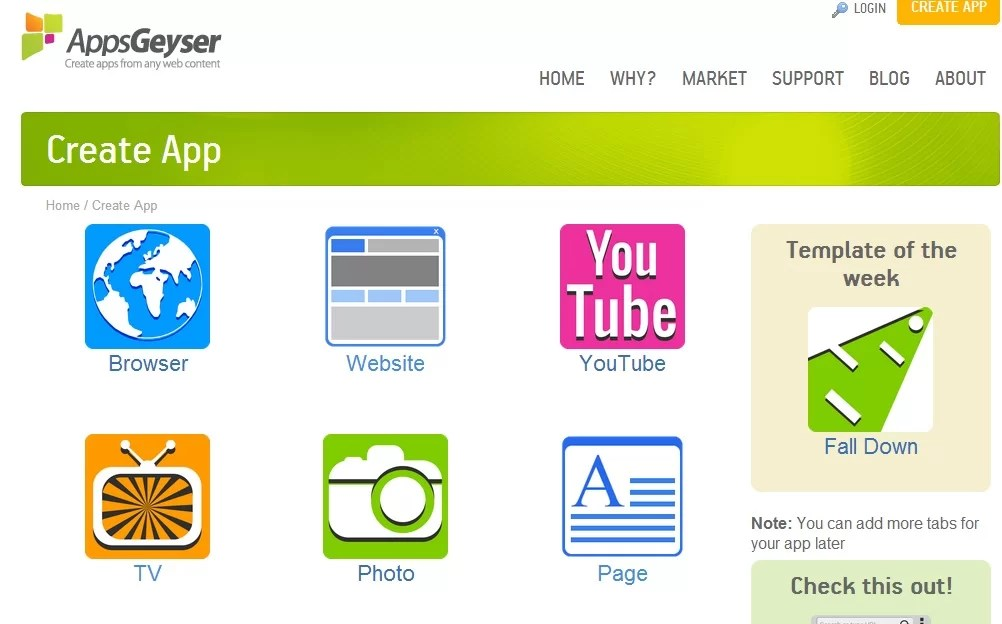 AppsGeyser Latest Top 5 Free Android App Templates - free app template