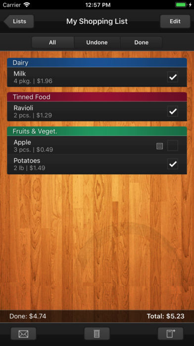 Shopping List (Grocery List) iPhone App - App Store Apps
