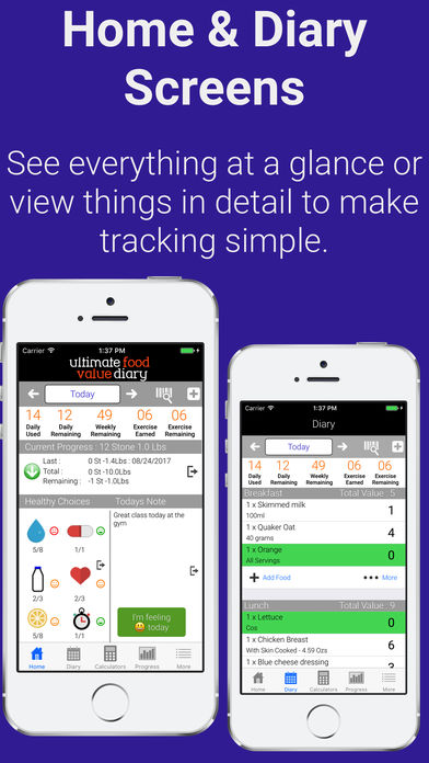 Ultimate Food Value Diary iPhone App - App Store Apps