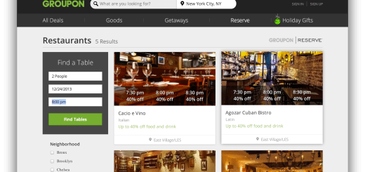 This is Groupon Reserve, one of the best apps for finding good food near you