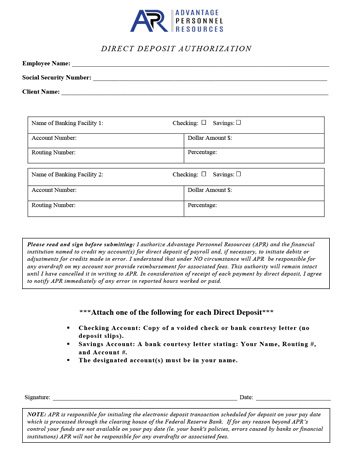 Workers\u0027 Compensation  Risk Management Client Forms - direct deposit forms