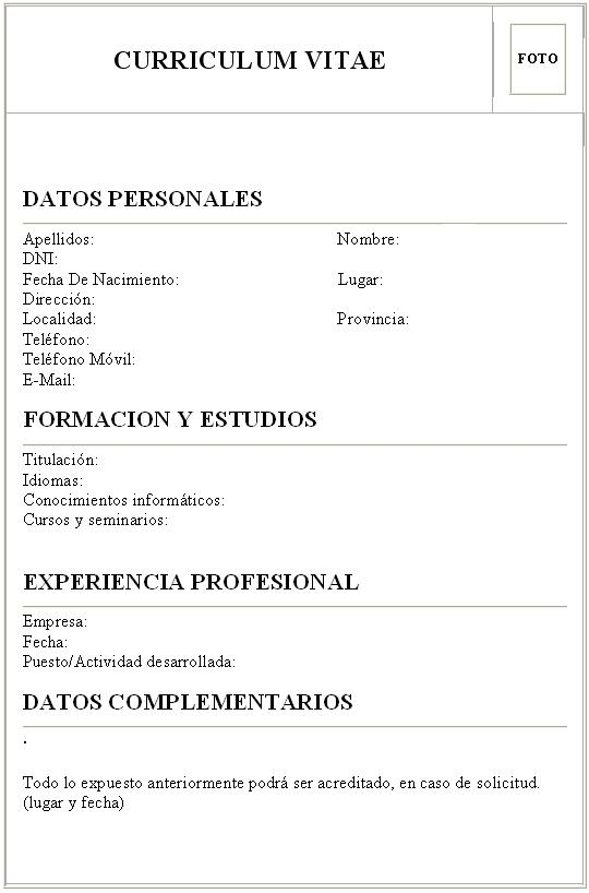 ejemplo de curriculum vitae unico sample resume service