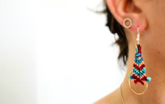DIY Boucles d'oreilles tissées