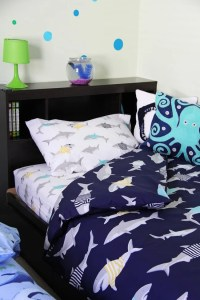 Boys Shark Theme Shared Bedroom - A Pretty Life In The Suburbs