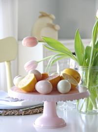 An Easter Table Setting in Pink and Yellow - A Pretty Life ...