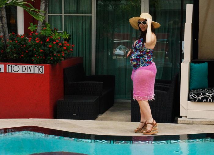 Victor-Hotel-pool-bikini, maternity bikini, pregnancy swimwear, anita maternity, maternity swim