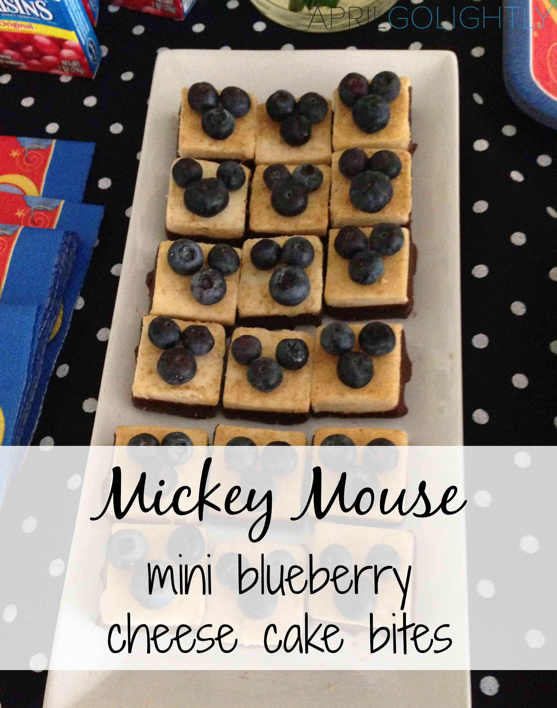 Mickey Mouse Mini Blueberry cheese cake bites recipe dessert disney side .jpg