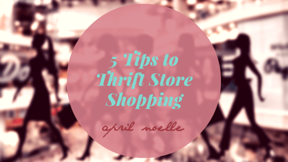 5 Tips to Thrift Store Shopping | How to Shop at Thrift Stores | AprilNoelle.com