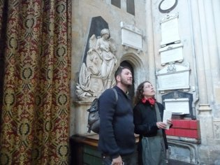 Daniel and Eva in Bath Cathedral