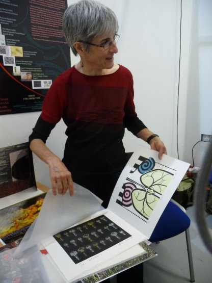 her exchange portfolio involved collaboration between artists in different countries