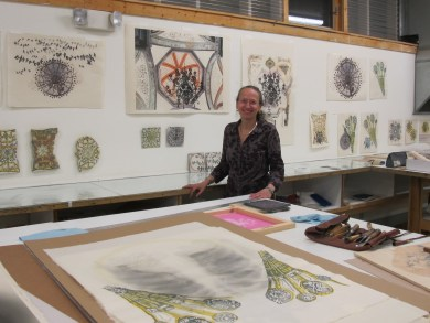 I shared my large studio with Johanna Mueller, we each had one side